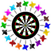 Darts. — Stock Vector
