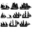 Sailing ships 2 — Stockvectorbeeld