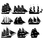 Sailing ships 1 — Stock Vector
