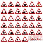 Warning signs — Stock Vector