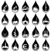 Droppar olja — Stockvektor