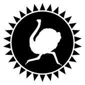 Avestruz — Vector de stock