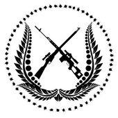 Sniper rifles-1 — Stock Vector