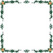 Abstract floral frame-1 — Stock Vector