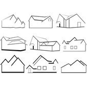 Outlines of houses — Stock Vector