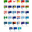 Stock Vector: Icons with flags of Australiand Oceania