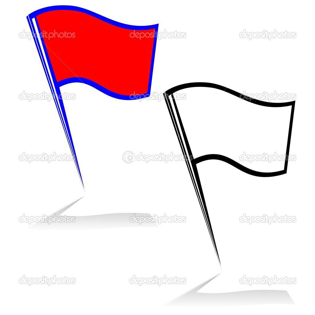 小旗— 图库矢量图像08 guarding #32944663