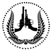 Two revolvers and a wreath — Stockvektor