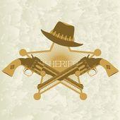 Sheriffs badge-2 — Stock Vector