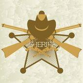 Sheriffs badge-3 — Stock Vector