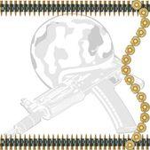 Machine-gun tape — Stock Vector