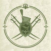 Hussar emblem-1 — Stock Vector
