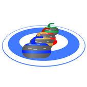 Curling-1 — Stock Vector