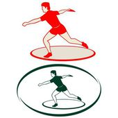 Athletics. Discus throwing-1 — Stock Vector