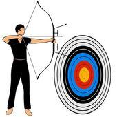 Archery-1 — Vettoriale Stock