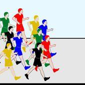Athletics. Racewalking-1 — Stock Vector