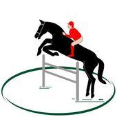 Equestrian sport-1 — Stock Vector