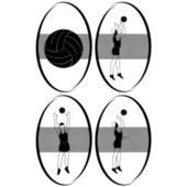 Volleyball-2 — Stock Vector