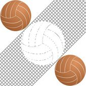 Volleyball-1 — Stock Vector