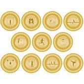 Gold medal sport-2 — Stock Vector