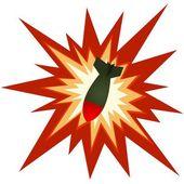 Aerial bomb — Stock Vector