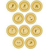 Gold medal sport-6 — Stockvektor