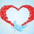 Heart and doves — Stock Vector #6689159