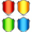 Stock Vector: Color shields.