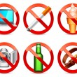 Royalty-Free Stock Vector Image: Prohibited signs.