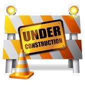 Debajo de la barrera de la construcción. — Vector de stock