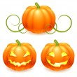 Stock Vector: Halloween pumpkin.