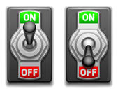 On and Off switches. — Stock Vector