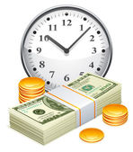 Time is money concept. — Vettoriale Stock