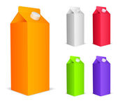 Color juice packs. — Vettoriale Stock