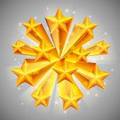Golden stars. — Stock Vector