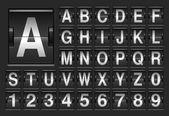 Vysvědčení abeceda. — Stock vektor