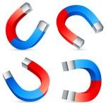 Horseshoe magnets. — Stock Vector #9547888