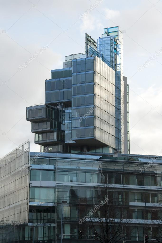Modern architecture glass building in Hanover, Germany  Foto Stock #13302570