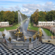 Grand Cascade in Peterhof — Stock Photo