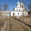 Russian Orthodox church in spring time — Stock Photo