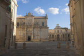 Piazza Duomo in Lecce, Italy — Stock Photo
