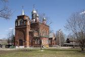 Old brick Russian Orthodox church — Stock Photo