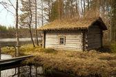 Old smoked sauna, Finland — Stock Photo