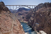 Colorado river at Hoover Dam — Stock Photo