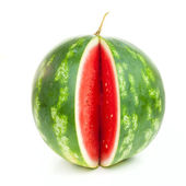 Notched striped watermelon — Stock Photo