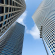 The three buildings of Azrieli Center in Tel-Aviv, Israel — Stock Photo