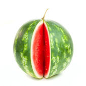 One notched striped watermelon — Stock Photo