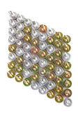 Losango diagonal de parafusos com uma ponta de broca — Foto Stock