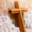 Wooden crosses - Stock Photo
