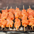Grilling shashlik — Stock Photo